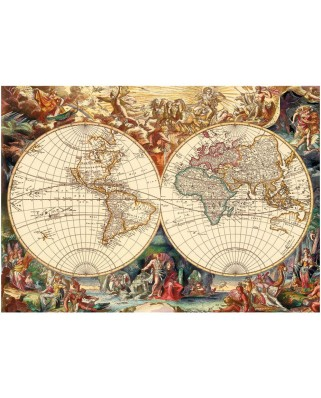 Puzzle Dino - Antique World Map, 1.000 piese (62931)