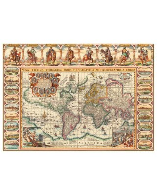 Puzzle Dino - Antique World Map, 2.000 piese (62443)