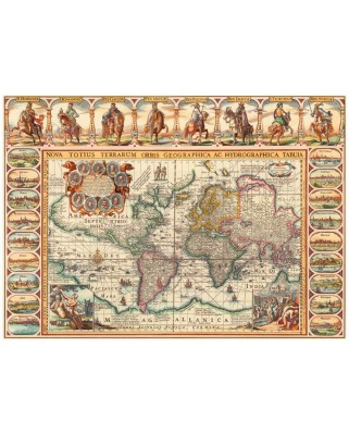 Puzzle Dino - Antique World Map, 2.000 piese (65158)