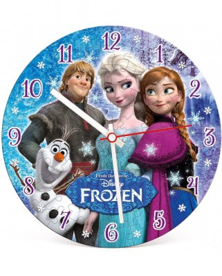 Puzzle rotund Clementoni - Clock Puzzle - The Snow Queen, 96 piese (23021)