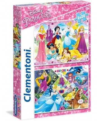 Puzzle Clementoni - Disney Princess, 2x20 piese (24751)