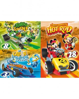 Puzzle Clementoni - Mickey and The Roadster Racers, 3x48 piese (25227)
