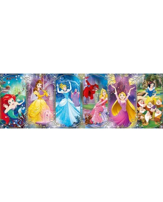 Puzzle panoramic Clementoni - Disney Princess, 1.000 piese (39444)