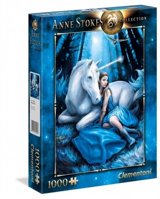 Puzzle Clementoni - Anne Stockes: Blue Moon, 1.000 piese (39462)