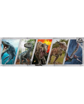 Puzzle panoramic Clementoni - Jurassic World, 1.000 piese (39471)