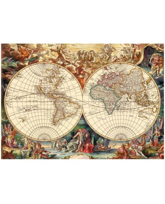 Puzzle Dino - Antique World Map, 1.000 piese (53249)