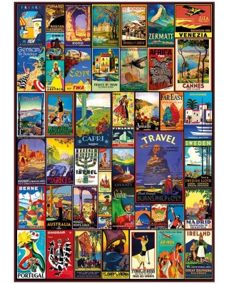Puzzle Dino - Travel Poster, 3.000 piese (56316)
