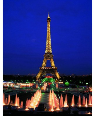 Puzzle fosforescent Educa - The Eiffel Tower, 1.000 piese (10114)