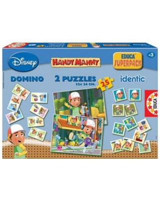 Puzzle Educa - Handy Manny, 2x25 piese (14406)