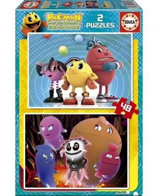 Puzzle Educa - Pac-Man, 2x48 piese (16159)