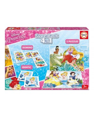 Puzzle Educa - Disney Princess, 2x25 piese (17198)