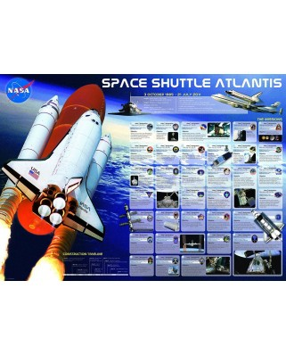 Puzzle Eurographics - Space Shuttle Atlantis, 1.000 piese (6000-0571)