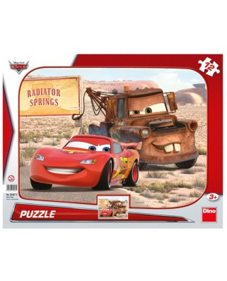 Puzzle Dino - Cars 3, 12 piese (62852)