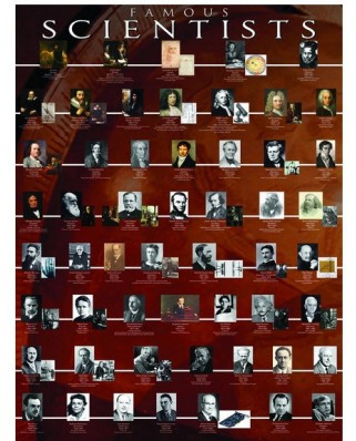 Puzzle Eurographics - Famous Scientists, 1.000 piese (6000-2000)