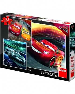 Puzzle Dino - Cars 3, 3x55 piese (62885)