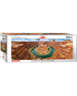 Puzzle panoramic Eurographics - Horseshoe Bend Arizona, 1.000 piese (6010-5371)