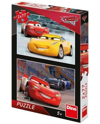 Puzzle Dino - Cars, 2x77 piese (62905)