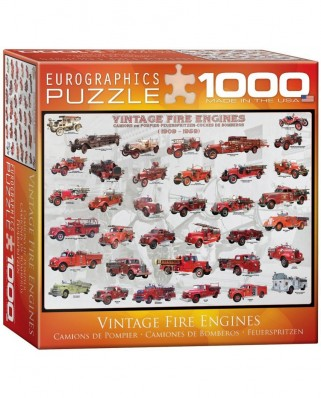 Puzzle Eurographics - Vintage Fire Engines, 1.000 piese (8000-0239)