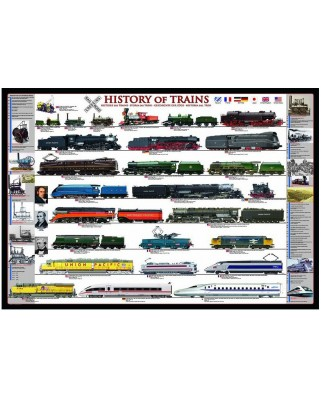 Puzzle Eurographics - History Of Trains, 1.000 piese (8000-0251)