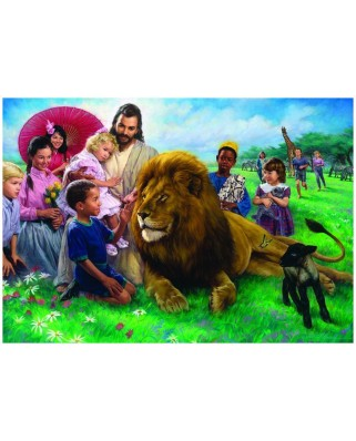 Puzzle Eurographics - Lion And The Lamb, 1.000 piese (8000-0345)