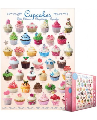 Puzzle Eurographics - Cupcakes, 1.000 piese (8000-0409)