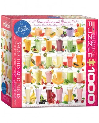 Puzzle Eurographics - Smoothies and Juices, 1.000 piese (8000-0591)