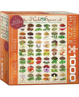 Puzzle Eurographics - Herbs and Spices, 1.000 piese (8000-0598)