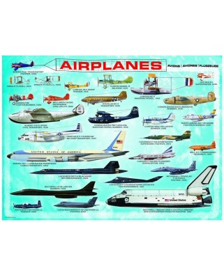 Puzzle Eurographics - Airplanes, 100 piese mini (8104-0086)