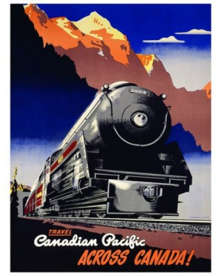 Puzzle Eurographics - Canadian Pacific Travel Across Canada, 100 piese mini (8104-0324)