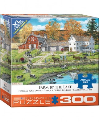Puzzle Eurographics - Farm by the Lake by Bob Fair, 300 piese XXL (8300-5382)