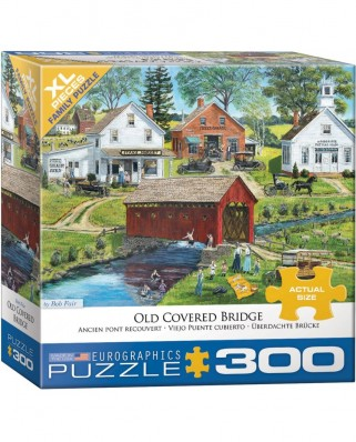Puzzle Eurographics - Old Covered Bridge by Bob Fair, 300 piese XXL (8300-5383)