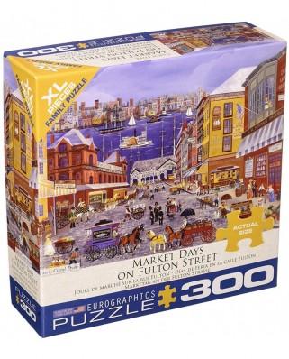 Puzzle Eurographics - Carol Dyer: Market Days on Fulton Street, 300 piese XXL (8300-5384)