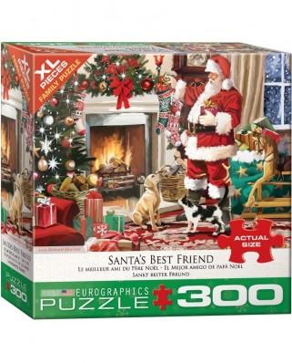 Puzzle Eurographics - Santa's Best Friend, 300 piese XXL (8300-5399)