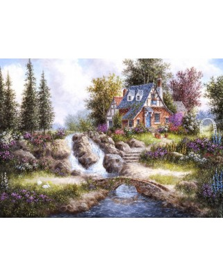 Puzzle magnetic Grafika Kids - Dennis Lewan: Magnetic Pieces - Alpine Falls, 24 piese (Grafika-Kids-01847)