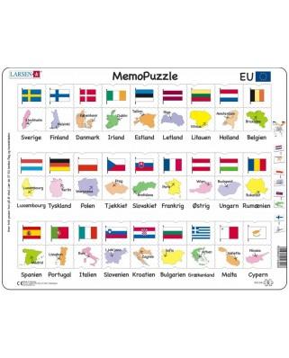 Puzzle Larsen - MemoPuzzle (in Danish), 54 piese (GP2-DK)
