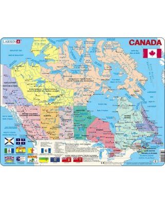 Puzzle Larsen - Political Canada Map (in French and English), 48 piese (K11-V1)