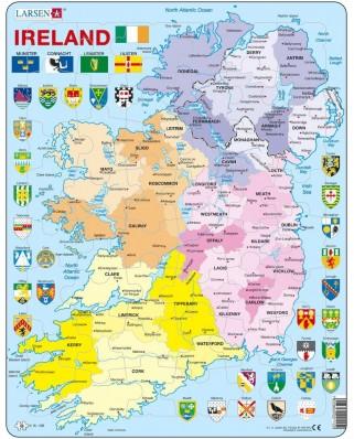 Puzzle Larsen - Ireland Political, 48 piese (K15-GB)