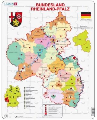 Puzzle Larsen - Bundesland - Rheinland - Pfalz, 70 piese (K26-DE)