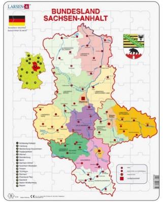 Puzzle Larsen - Bundesland - Sachsen - Anhalt, 70 piese (K31-DE)