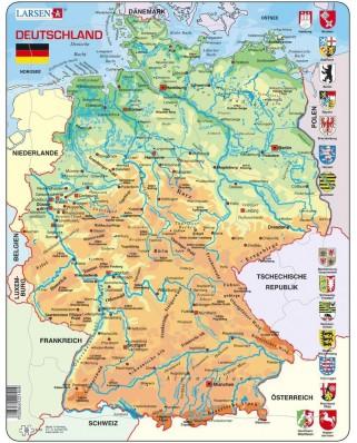 Puzzle Larsen - Map of Germany (Deutsch), 50 piese (K40-DE)