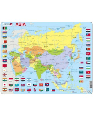 Puzzle Larsen - Map Of Asia, 70 piese (K44-GB)