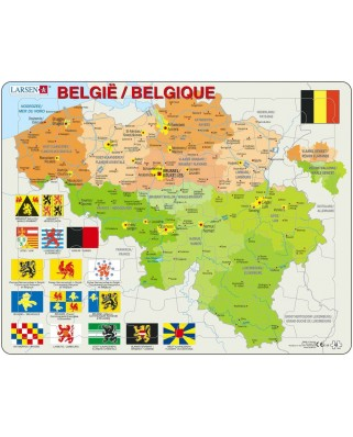 Puzzle Larsen - Belgium, 48 piese (K59-V1)