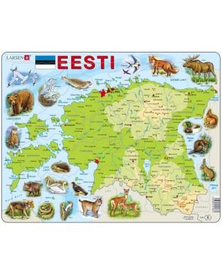 Puzzle Larsen - Physical Map of Estonia, 55 piese (K66-EE)