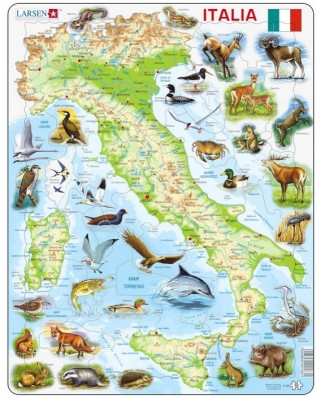 Puzzle Larsen - Map of Italy (in Italian), 65 piese (K83-IT)