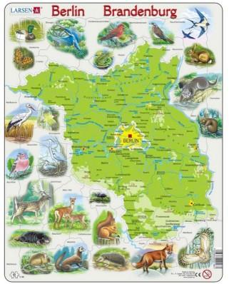 Puzzle Larsen - Map of Germany (Deutsch), 62 piese (K96-DE)