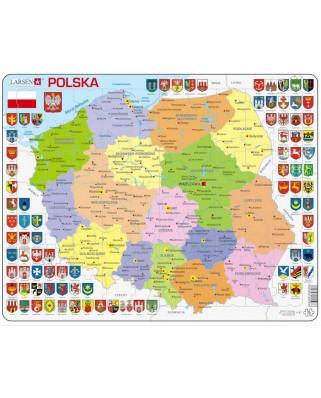 Puzzle Larsen - Poland Political Map, 70 piese (K97-PL)