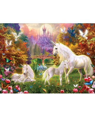 Puzzle Sunsout - Jan Patrik Krasny : Castle Unicorns, 1.000 piese (15963)