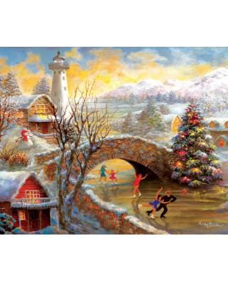 Puzzle Sunsout - Nicky Boehme : Joyous Season, 1.000 piese (19168)