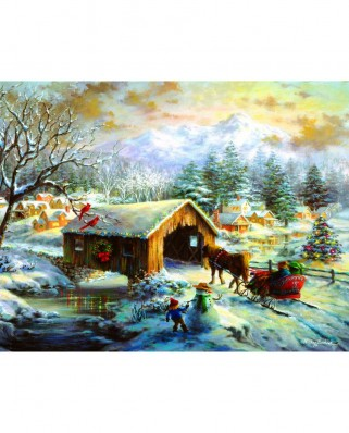 Puzzle Sunsout - Nicky Boehme : Over the Covered Bridge, 1.000 piese XXL (19319)