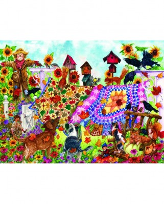 Puzzle Sunsout - Wendy Edelson : Autumn Garden Quilts, 1.000 piese (20225)
